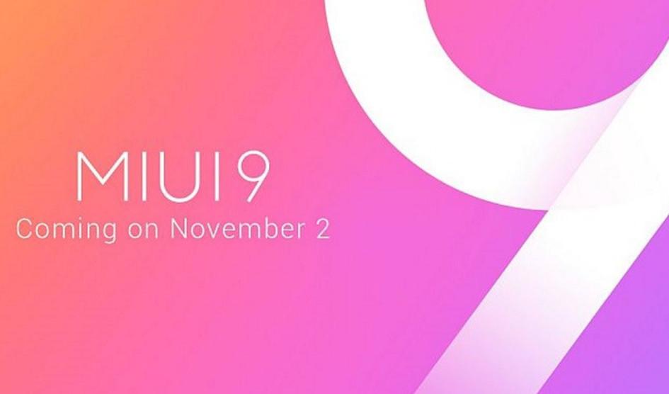 MIUI 9 ROM global para Noviembre