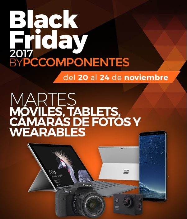 BLACK FRIDAY en PCComponentes: Martes, Móviles, Tablets, Cámaras de fotos y Wearables
