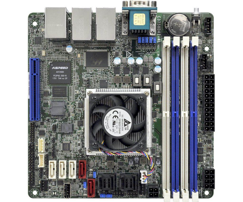 ASRock C3758D4I-4L, interesante placa Mini-ITX