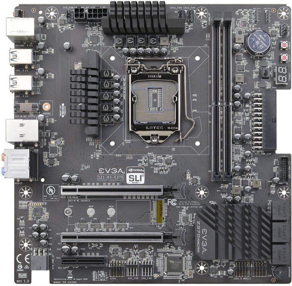 EVGA lanza su imponente placa base Z370 Micro