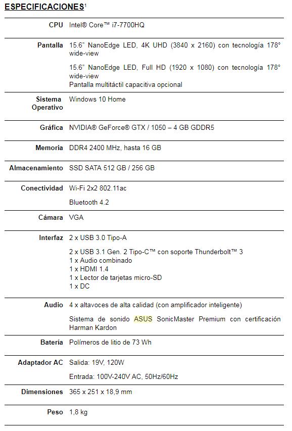 NP: ASUS presenta el nuevo ZenBook Pro (UX550)