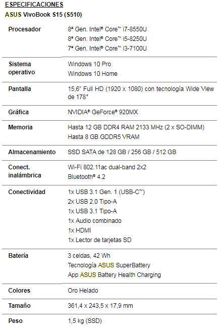 NP: ASUS presenta el VivoBook S15 (S510)