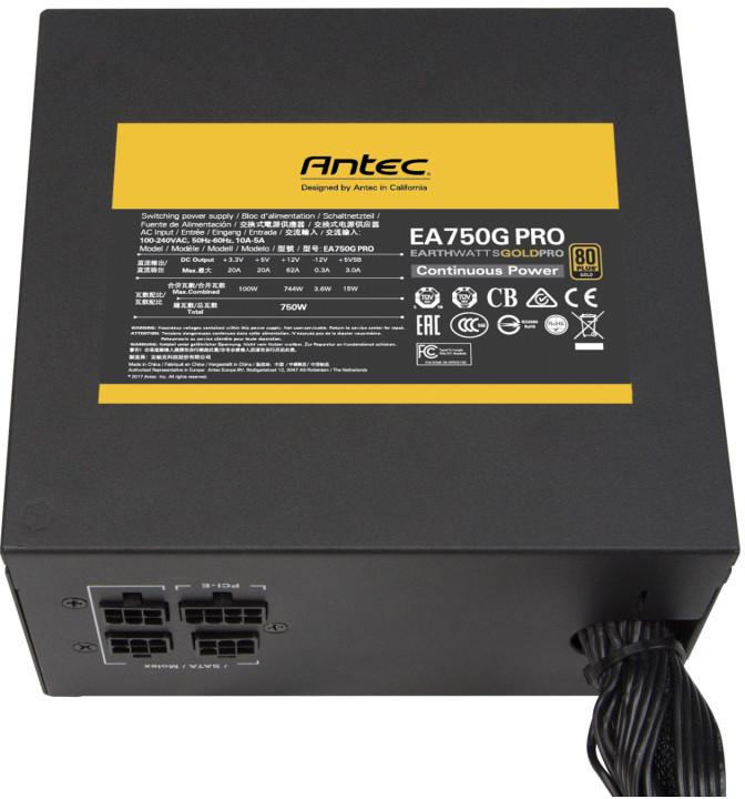 Antec lanza sus nuevas fuentes de alimentación EarthWatts Gold Pro