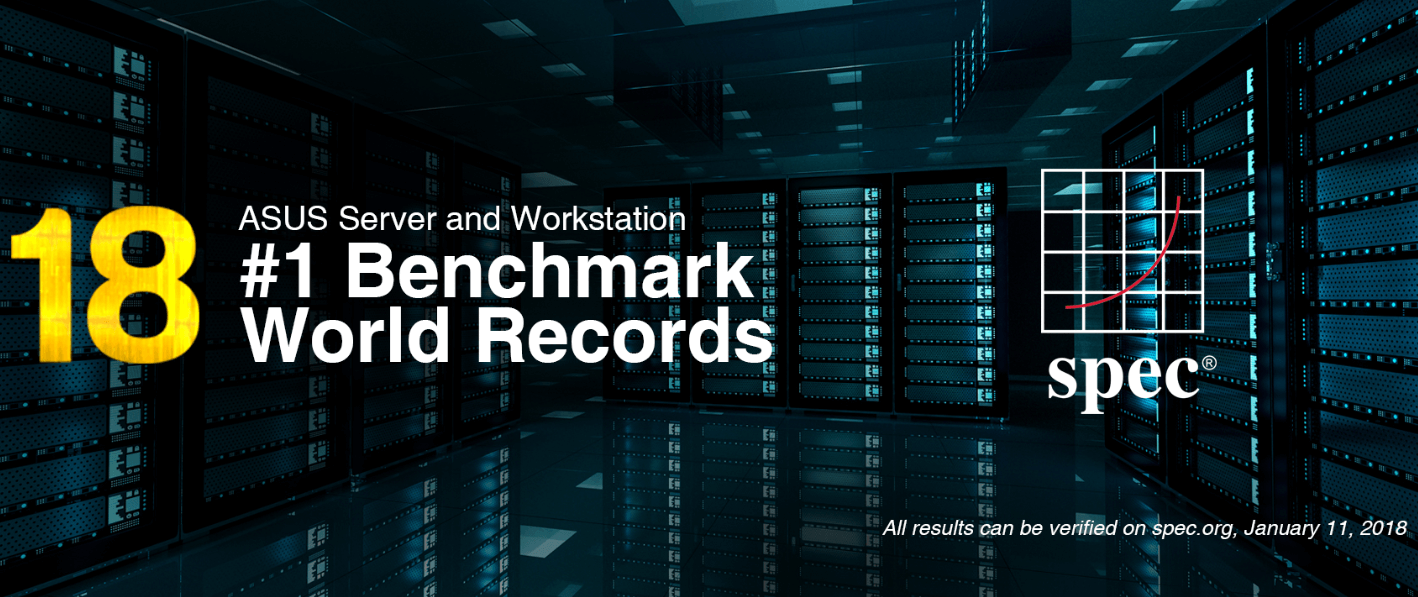 NP: Las placas de servidor y workstation de ASUS establecen 18 nuevos benchmarks y récords mundiales