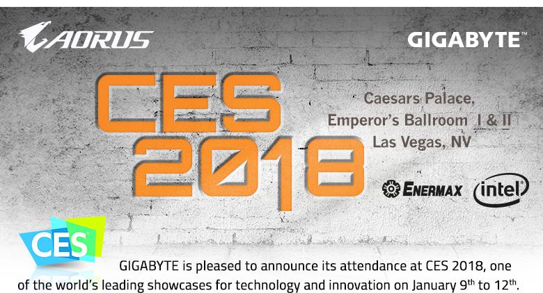 NP: CES2018 - GIGABYTE anunció su asistencia al CES 2018