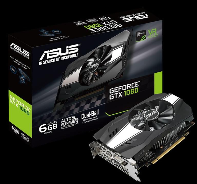 ASUS GeForce GTX 1060 6 GB Phoenix anunciada
