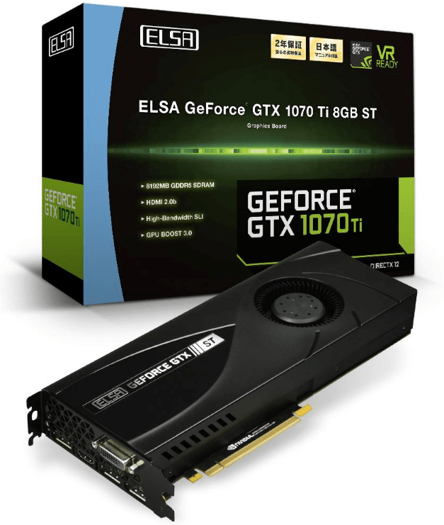 ELSA lanza su GeForce GTX 1070 Ti 8GB ST