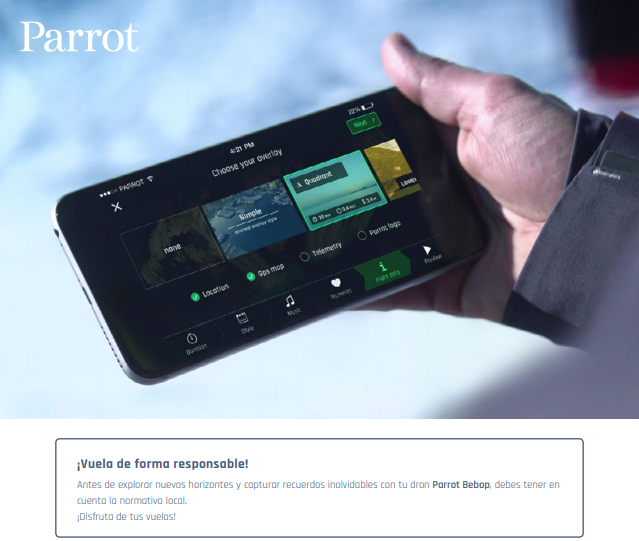 NP: Parrot Flight Director - Edita tus vídeos como un profesional