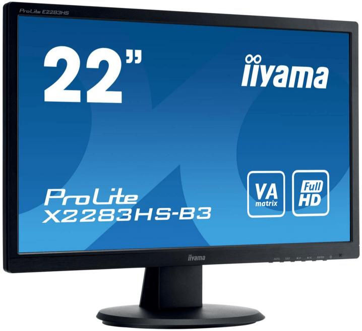 Iiyama lanza su nuevo monitor ProLite X2283HS-B3