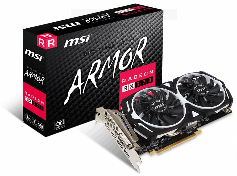 MSI lanza la Radeon RX 570 ARMOR 8G OC Edition