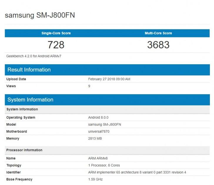 Samsung Galaxy J8 hace acto de presencia en Geekbench