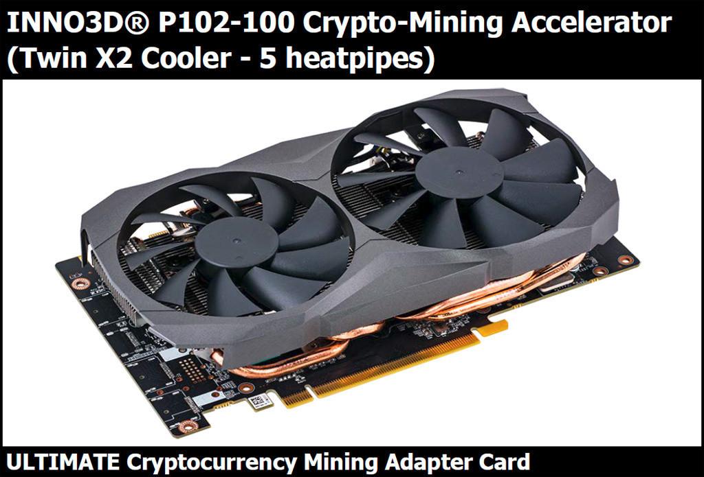 Inno3D P120-100 Crypto-Mining Accelerator avistada, nueva GPU para criptominería