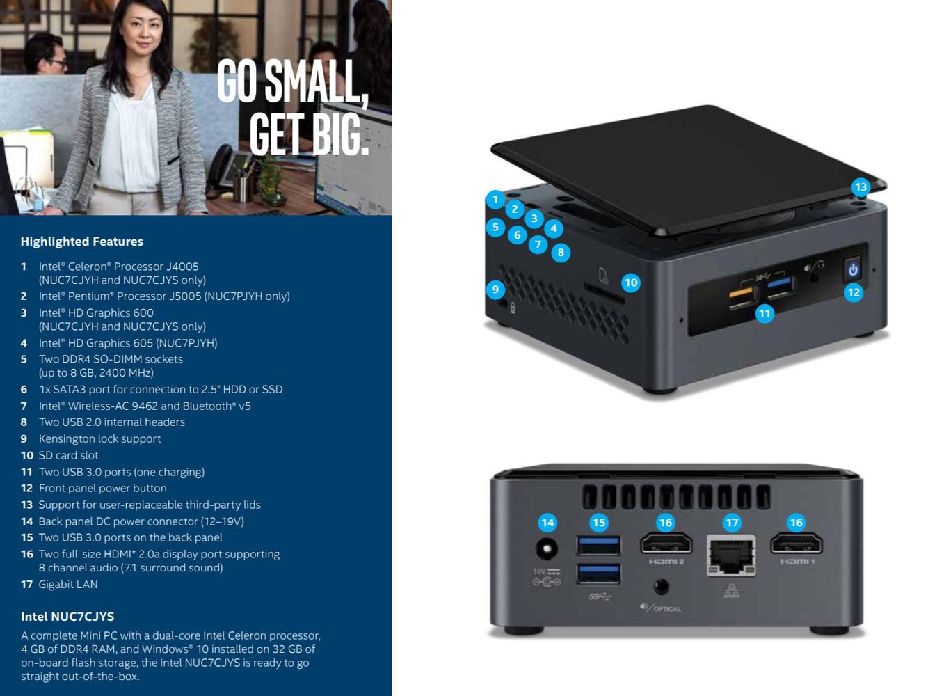 Intel lanza dos nuevos Mini PCs NUC basados en el SoC Gemini Lake