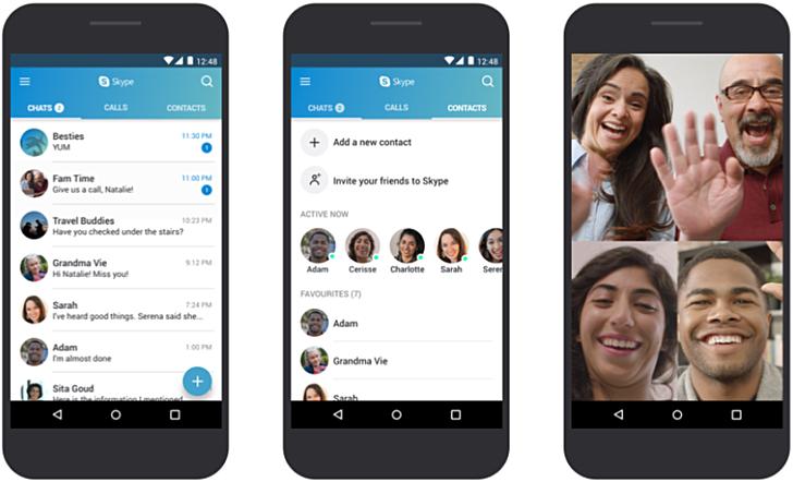 Skype ya es compatible con versiones de Android 4.0.3 y superior