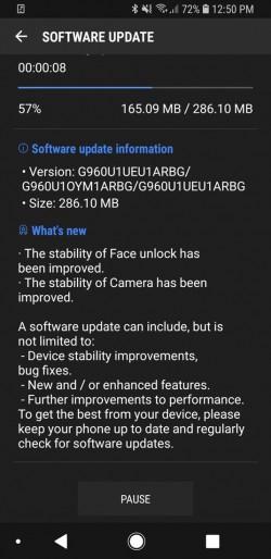 Samsung Galaxy S9 y S9 Plus recibe la primera actualización