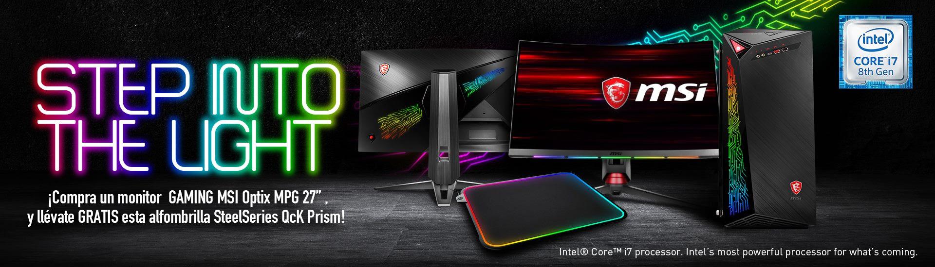 NP: MSI y SteelSeries presentan el primer monitor gaming curvo del mundo con PrismSync e integración GameSense