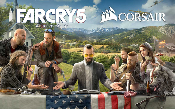 NP: Libera a Hope County CORSAIR y Ubisoft® se alían para integrar la iluminación del PC a Far Cry® 5
