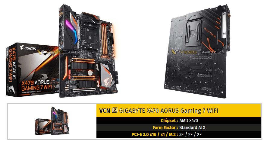Las placas base Gigabyte AORUS X470 Gaming se dejan ver