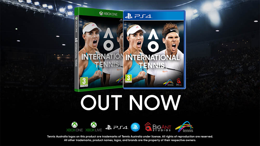 NP: AO International Tennis ya disponible en todo el mundo en sus versiones digitales