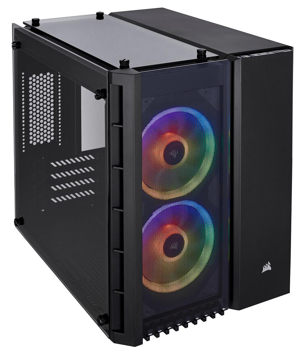 NP: Claramente compacto CORSAIR lanza el nuevo chasis Crystal Series 280X RGB MATX en Computex 2018