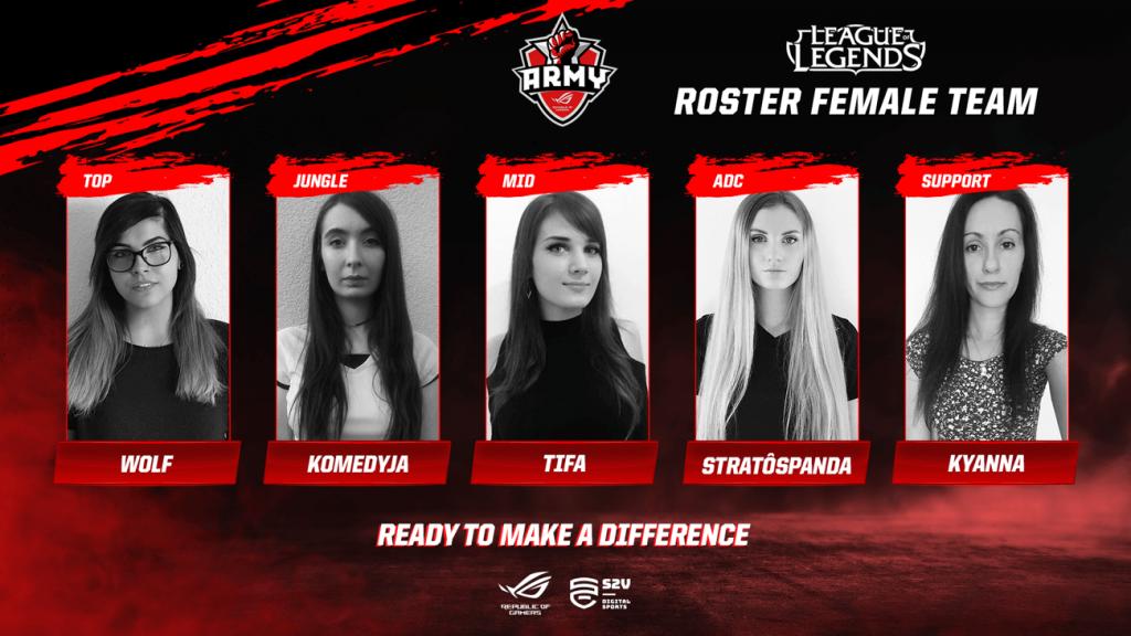 NP: El equipo femenino de ASUS ROG Army se estrenará en el Girl Gamer Festival de Lisboa