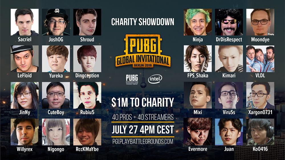 NP: PUBG Corporation anuncia el evento, que se emitirá en directo: PGI Charity Showdown
