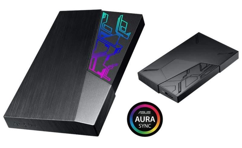 ASUS anuncia sus discos duros externos FX dotados de AURA Sync RGB