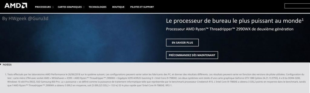 AMD Ryzen Threadripper 2990WX muestra su rendimiento en Cinebench