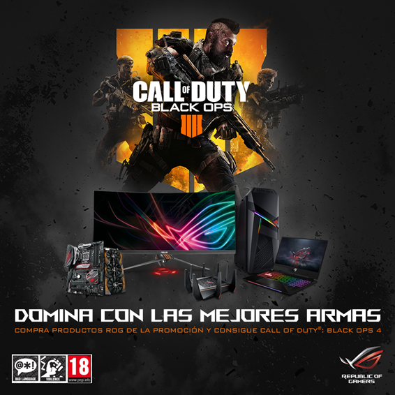 NP: ASUS Republic of Gamers se asocia con Activision para el lanzamiento de Call of Duty®: Black Ops 4