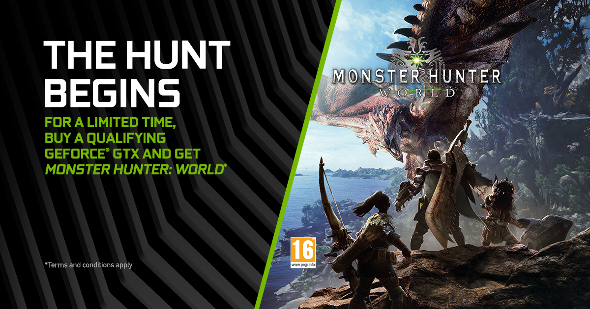 NP: NVIDIA anuncia un nuevo bundle con Monster Hunter: World