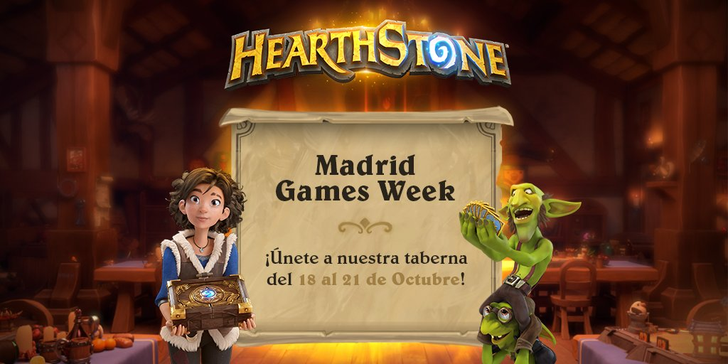 Hearthstone estará en la Madrid Games Week 2018