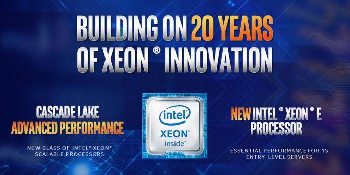 NP: Intel muestra el alcance de las plataformas centradas en datos con los procesadores Cascade Lake para Rendimiento Avanzado y los procesadores Xeon E-2100