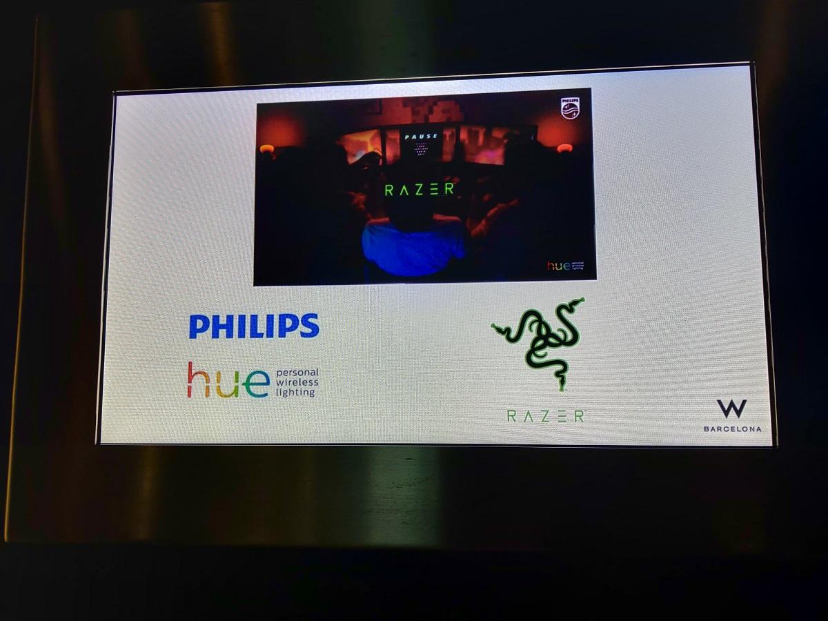 Razer y Philips hue mostraron sus novedades en el Hotel W Barcelona
