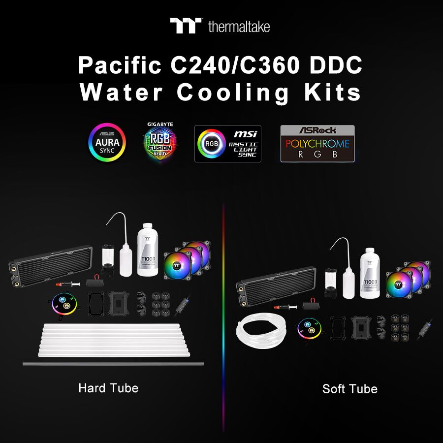 NP: Kits de refrigeración líquida Thermaltake Pacific C240/C360 DDC