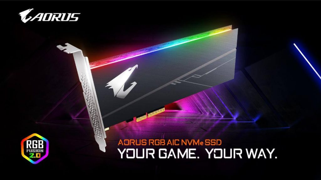 NP: GIGABYTE actualiza la línea de SSD con la serie AORUS RGB