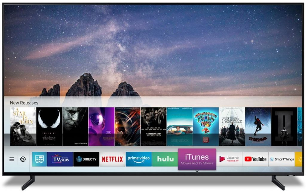 NP: Los Smart TV de Samsung ofrecerán películas y programas de televisión de iTunes y serán compatibles con AirPlay 2 a principios de la primavera de 2019