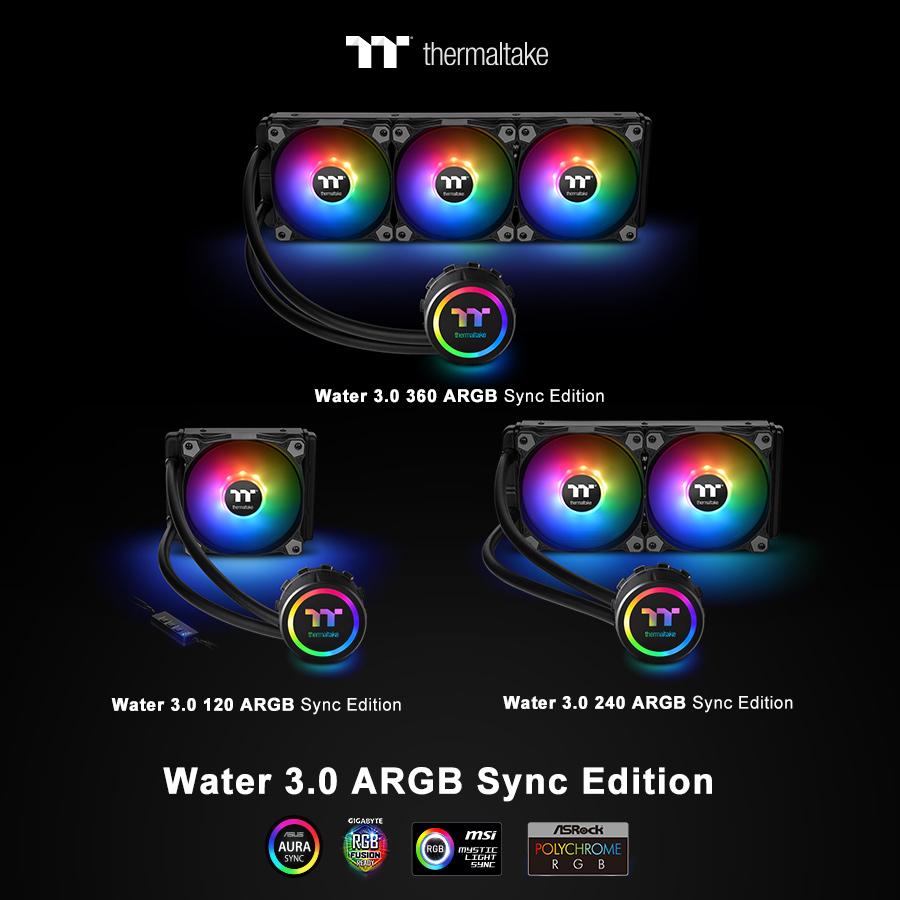 NP: Thermaltake nueva solución de refrigeración líquida todo en uno: La Water 3.0 ARGB Sync Edition Series en CES 2019