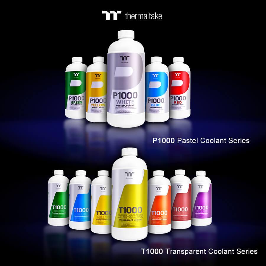 NP: Thermaltake nuevo Coolant P1000 Pastel y T1000 Transparent en CES 2019