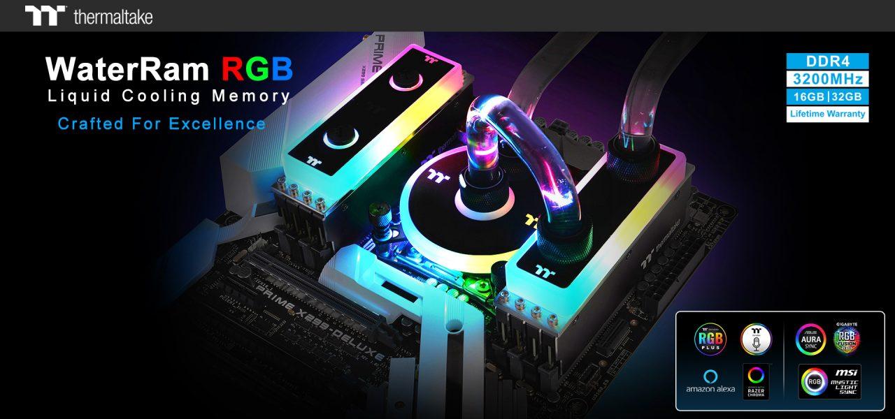 NP: Thermaltake ingresa oficialmente al mercado de la memoria –  La memoria WaterRam RGB con refrigeración líquida DDR4 3200MHz 32GB/16GB