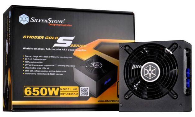 SilverStone lanza dos nuevas fuentes Strider Gold S de 550 y 650W