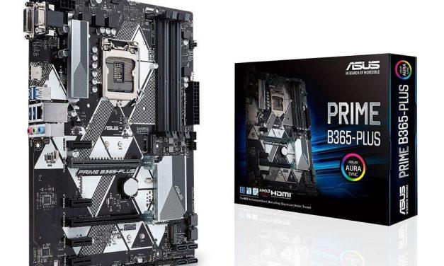 ASUS lanza su nueva placa base de gama media Prime B365-Plus