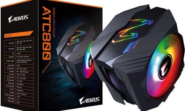 Gigabyte lanza su nuevo disipador Aorus ATC800