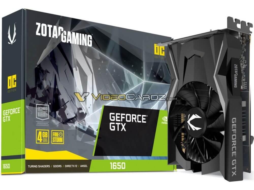 ZOTAC GeForce GTX 1650 avistada
