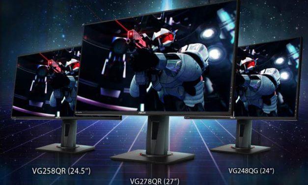 NP: ASUS presenta tres nuevos monitores de gaming con certificación NVIDIA G-SYNC Compatible