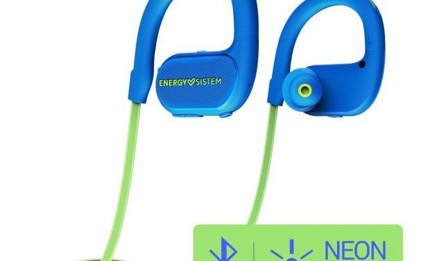 NP: Earphones BT Running 2 Neon de Energy Sistem, diseñados para iluminar los entrenamientos nocturnos