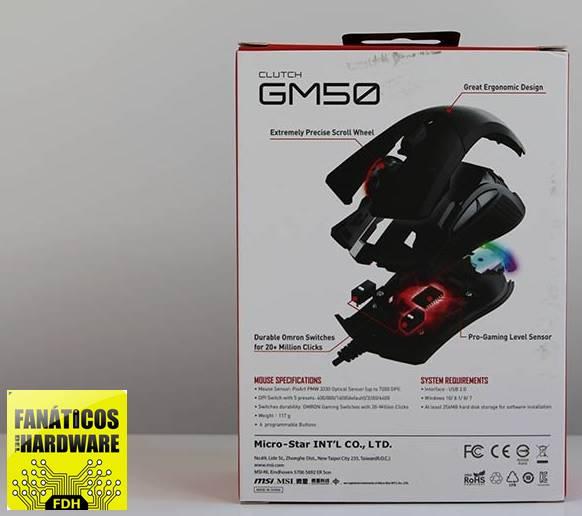 RATÓN GAMING CLUTCH GM50