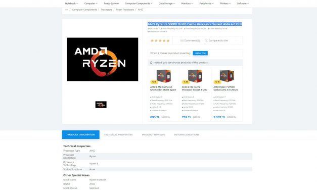 AMD Ryzen 9 3800X, Ryzen 7 3700X y Ryzen 5 3600X aparecen listados en algunos minoristas