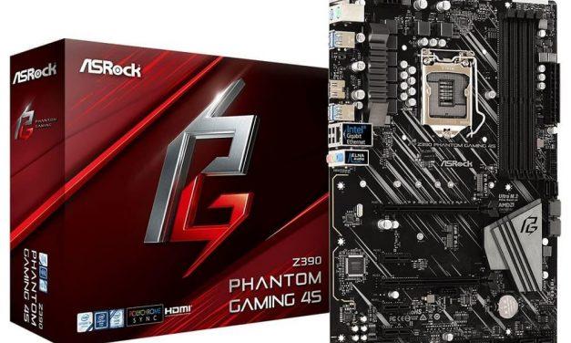 ASRock lanza su nueva y económica placa base Z390 Phantom Gaming 4S