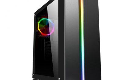 DIYPC Rainbow Flash-V2: Elegante torre ATX con LED RGB y vidrio templado por 99 dólares