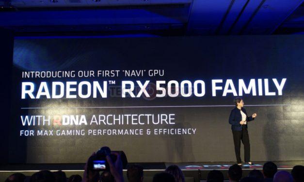 Radeon RX 5700 (Navi): 7nm, PCIe Gen4 y GDDR6